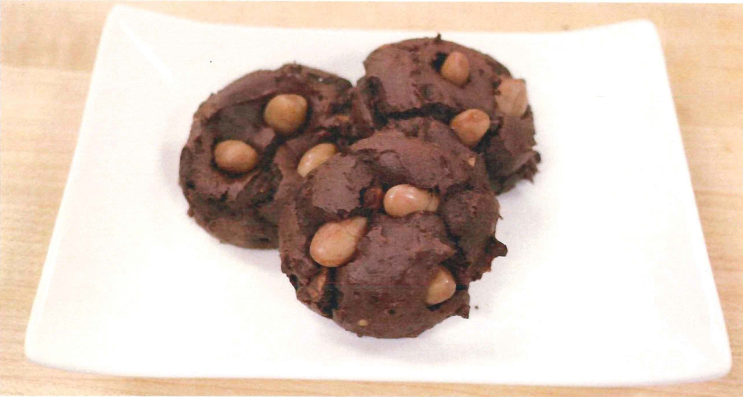 Chocolate Cranberry Bean Cookies